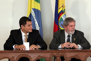 Rafael correa e o presidente Lula