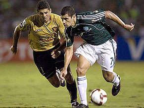 Igor (sport) persegue Diego Souza (palmeiras) de perto - sem dar brechas!