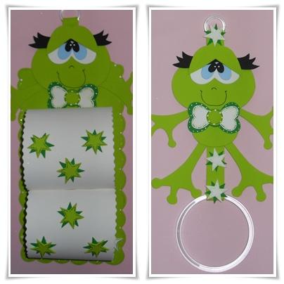 Porta papel higiênico e porta papel toalha