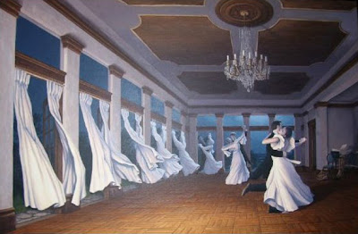 Dancing Curtain Optical Illusion