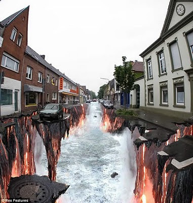 Lava River Optical illusion