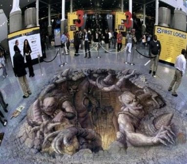 Famous painting of Devils illusion