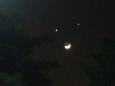 Smiling Moon : Planets Align in a Frown Illusion
