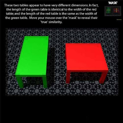 New Optical Illusion : Longer Table Size Illusion