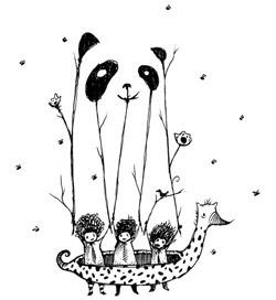 Panda Bear Optical Illusion