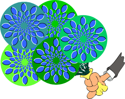 Spinning Flowers Optical Illusion