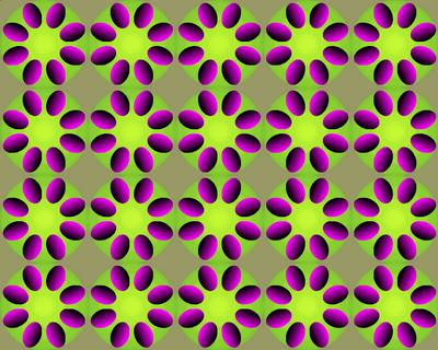 Rotating Flower Optical Illusion