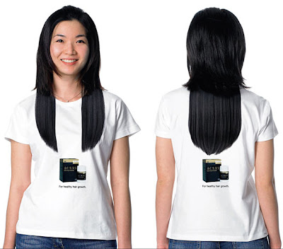 Funny T-Shirt Hair Optical Illusion
