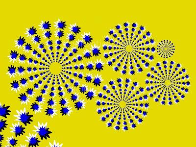 Moving Star optical illuison