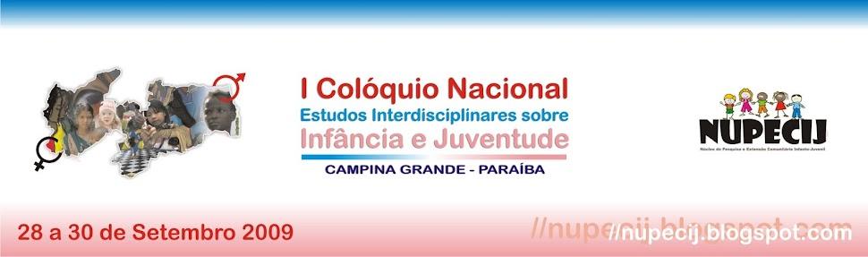 I COLÓQUIO NACIONAL INFÂNCIA E JUVENTUDE