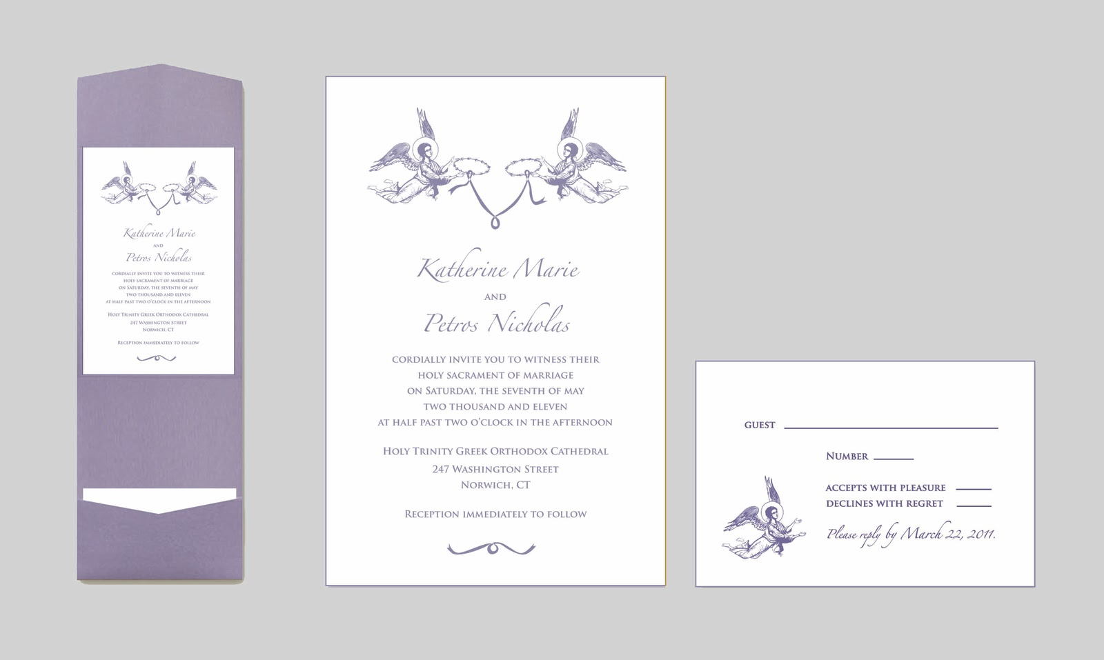 purple and beige wedding invitations wedding card messages bangla - Christian Wedding Card Messages