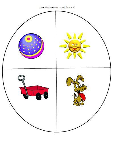 pizza activities mrs buckets teaching resources pizza wheel beginning sounds