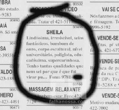 Liga pra Sheila!