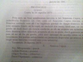 Un protocol , document vechi .