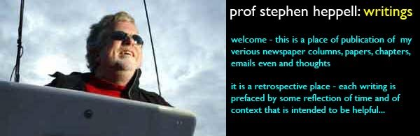professor stephen heppell's writings...