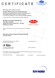 sijil HACCP untuk produk ALDURRA