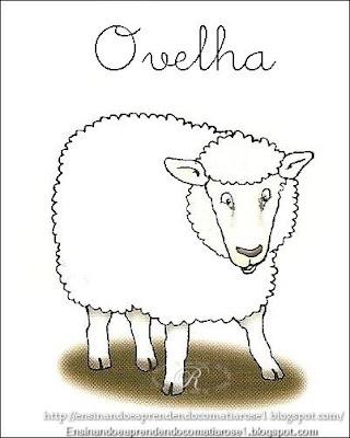 Ovelha+1 Alfabeto aprendendo com os animais para crianças