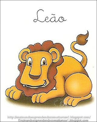 Le%C3%A3o+1 Alfabeto aprendendo com os animais para crianças