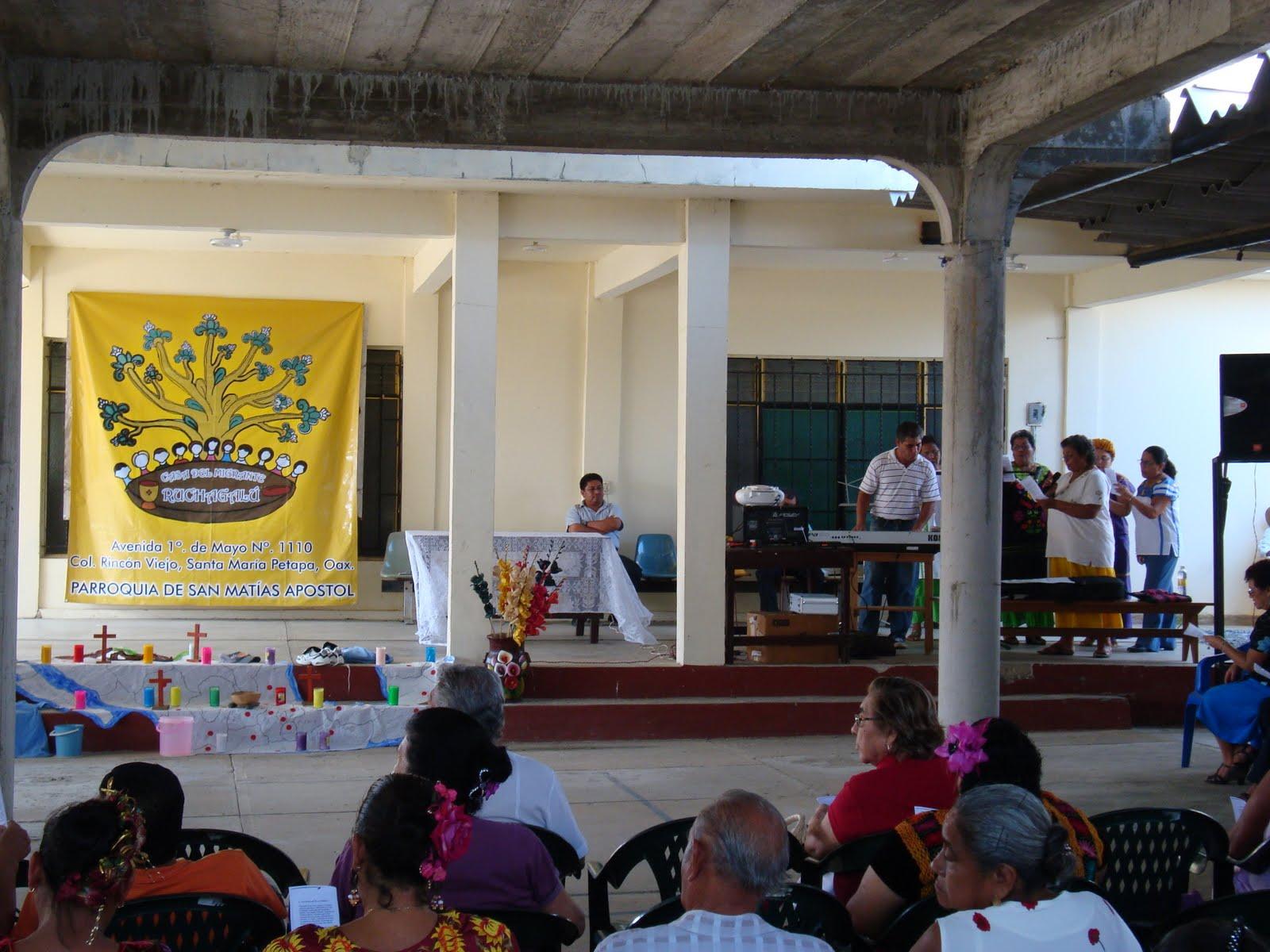 Conmemoran primer aniversario de la casa del migrante en for Mural de la casa del migrante