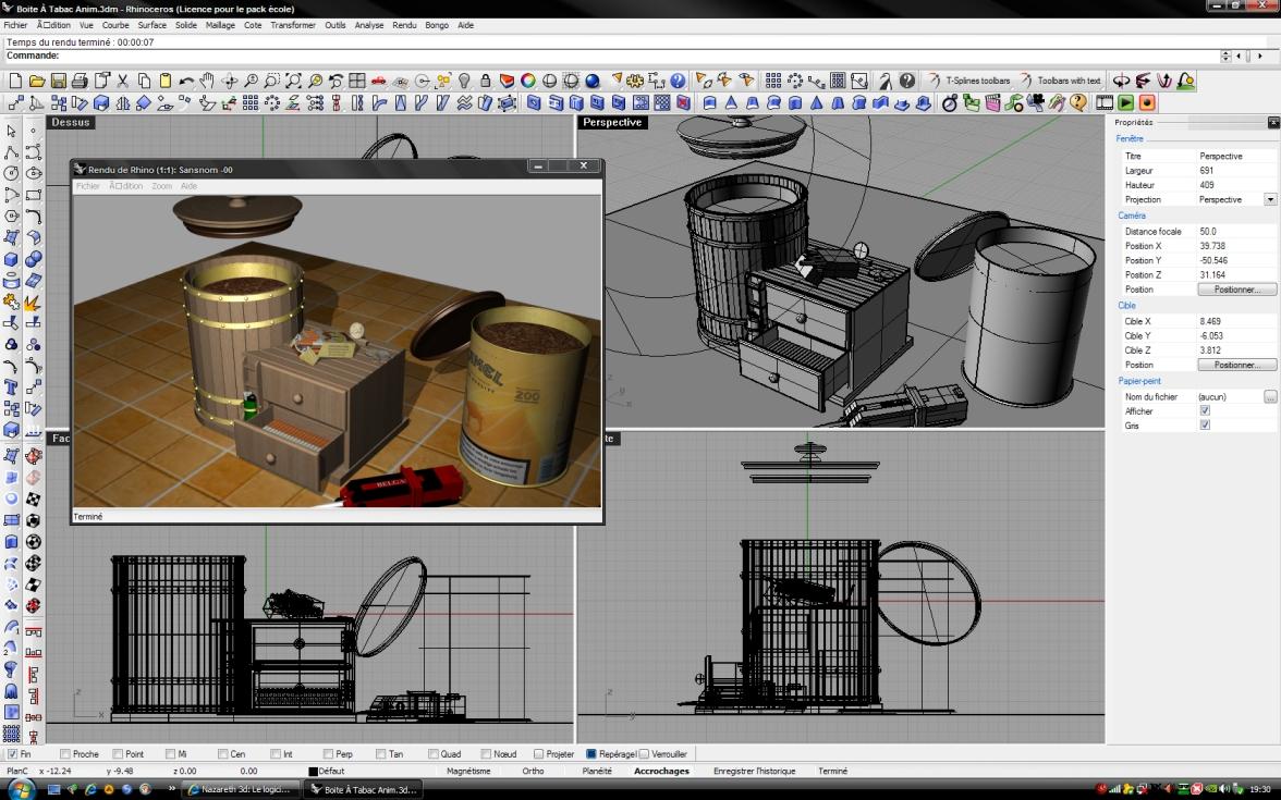Nazareth 3d le logiciel rhinoceros 3d for 3d logiciel