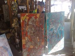 con miei dipinti dell,82 -ritrovati-