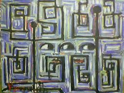 viaggio africano olio su tela