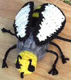 Another one of my crocheted honey bees