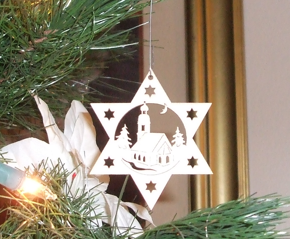 German Wooden Christmas Tree This little wooden ornament is