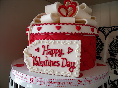 Valentine's Day Wedding Cake. Our small private wedding took place on
