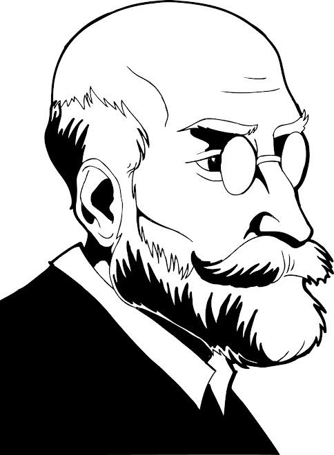 Retrato de Durkeim, para a disciplina de Sociologia da Educação