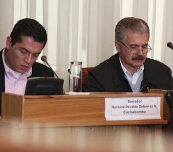 Antelo y Gutiérrez senadores por Santa Cruz y Cochabamba denunciar que el MAS