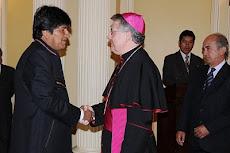 la visita protocolar de embajadores acreditados en Bolivia presididos por el Nuncio
