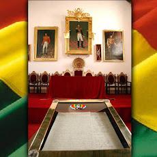 en éste sagrado recinto nació Bolivia en 1825 con soberana salida al mar