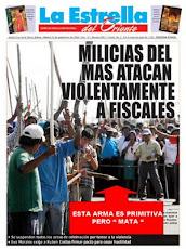 el violento ataque de masistas vagabundos contra fiscales y periodistas