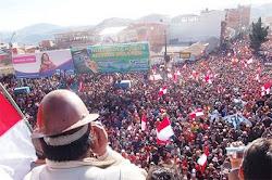 se reunieron cien mil personas. la mayor manifestación en toda la historia de la ciudad