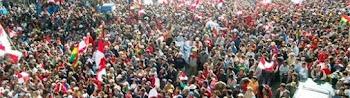pese a una participación multitudinaria en las protestas de Potosí