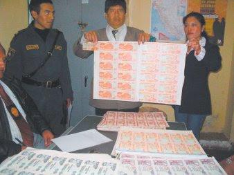 """bolivianos y peruanos participan en una """"enorme empresa"""" de falsificadores"""