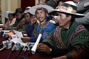 representantes de los nueve ayllus guerreros del norte de Potosí