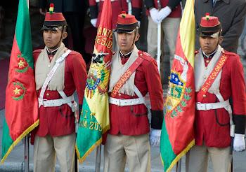 fue tan deslucido el desfile de Los Colorados en Santiago que apenas los mencionaron