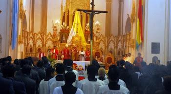 celebró un solemne Te Deum el arzobispo Tito Solari quién fue uno de los 200 agasajados