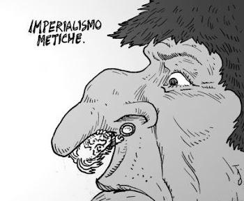 """jocosa caricatura publicada hoy en El Dia con el título """"imperialismo metiche"""""""