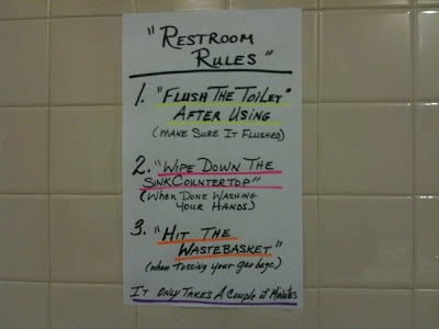 To Be A Reasonable User Of The Bathroom Thanks Anonymous Submitter