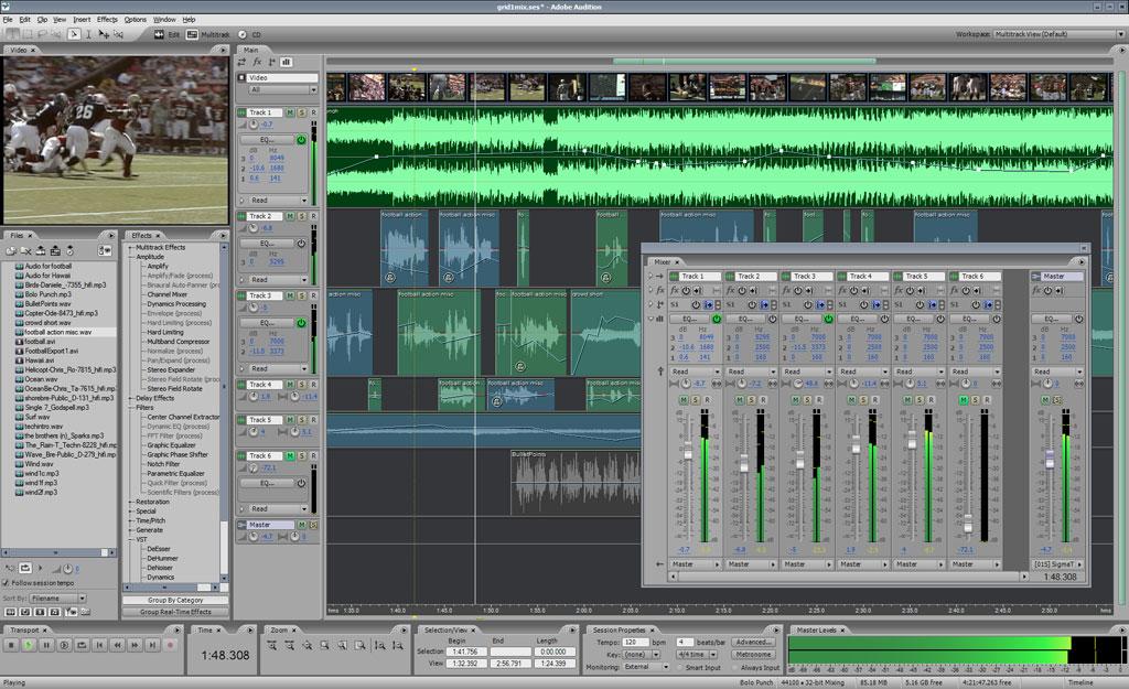 ����� ������� ������� ������ Adobe Audition 3.0