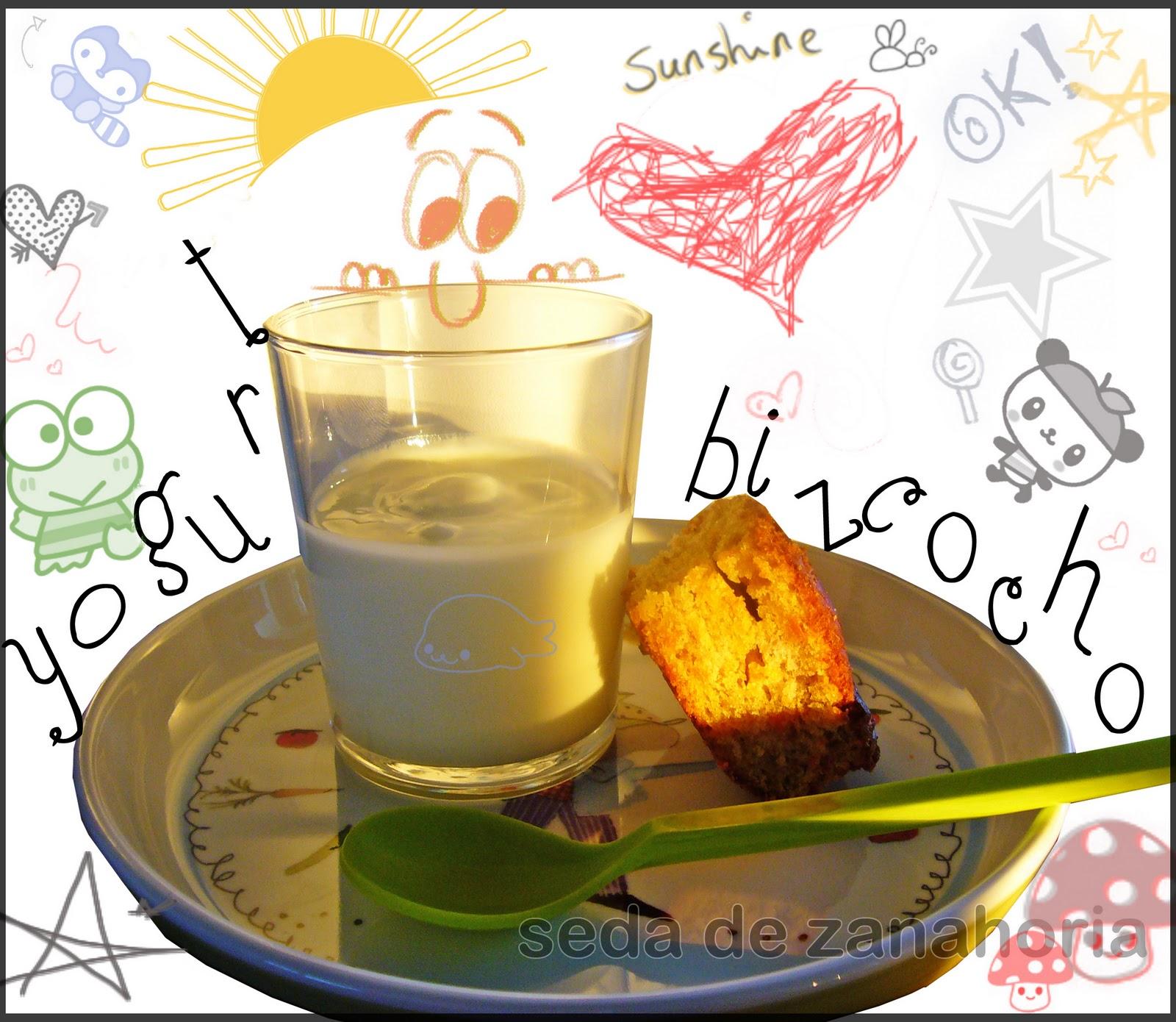 Seda de zanahoria carrot cake y un vasito de yogurt - Hadas y cuscus ...