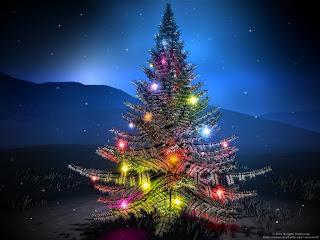 Digital Christmas light Wallpapers