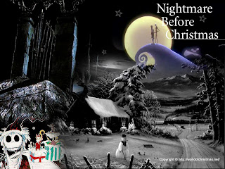 scary nightmare before christmas wallpaper