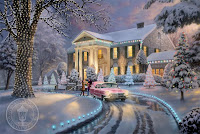 Thomas Kinkade Christmas Desktop Wallpaper