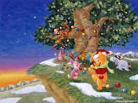 Free Winnie The Pooh Christmas Wallpapers