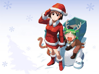 Cute Christmas Couple Wallpaper