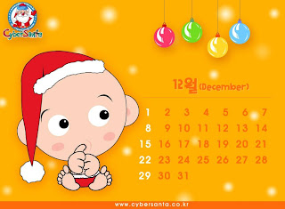 funny baby santa december calendar wallpaper